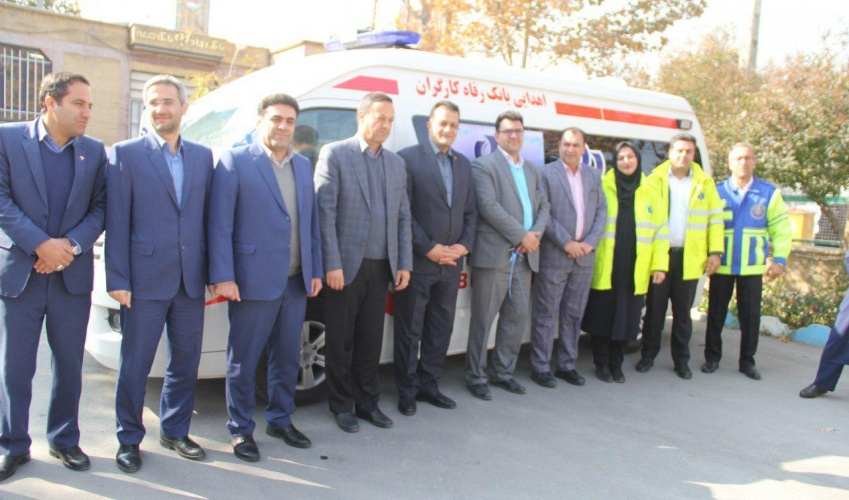 Donation of an ambulance system and amount of 3 billion riyals from Refah Bank of Markazi province to Health Sector